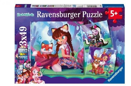Puzzle 3x49 Enchantimals Świat